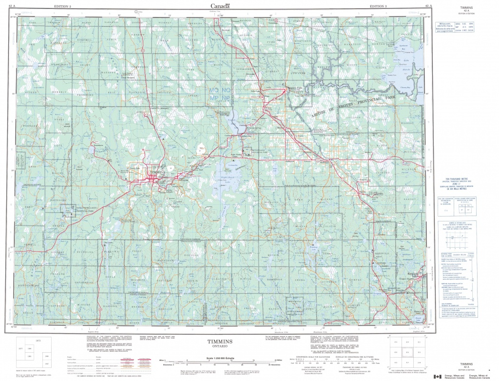 Printable Topographic Map Of Timmins 042A, On - Printable Topographic Maps