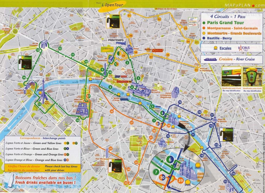 Printable Tourist Map Of Paris Best Of Paris One Day Trip Sights - Paris Map For Tourists Printable