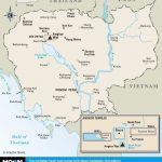 Printable Travel Maps Of Cambodia In 2019   Cambodia   Cambodia   Printable Map Of Cambodia