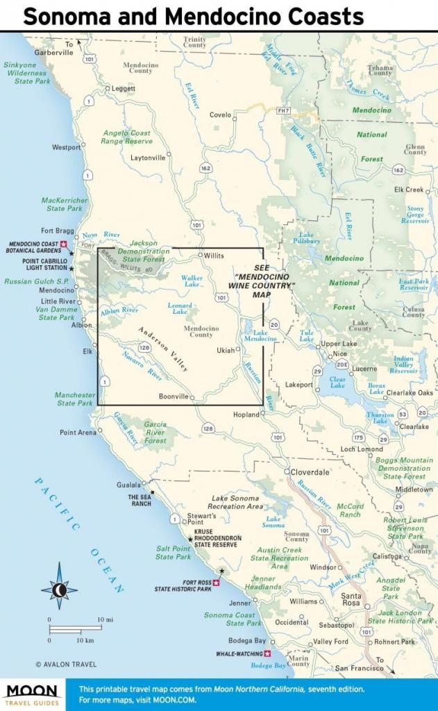 Printable Travel Maps Of Coastal California In 2019 | California - Printable Travel Maps