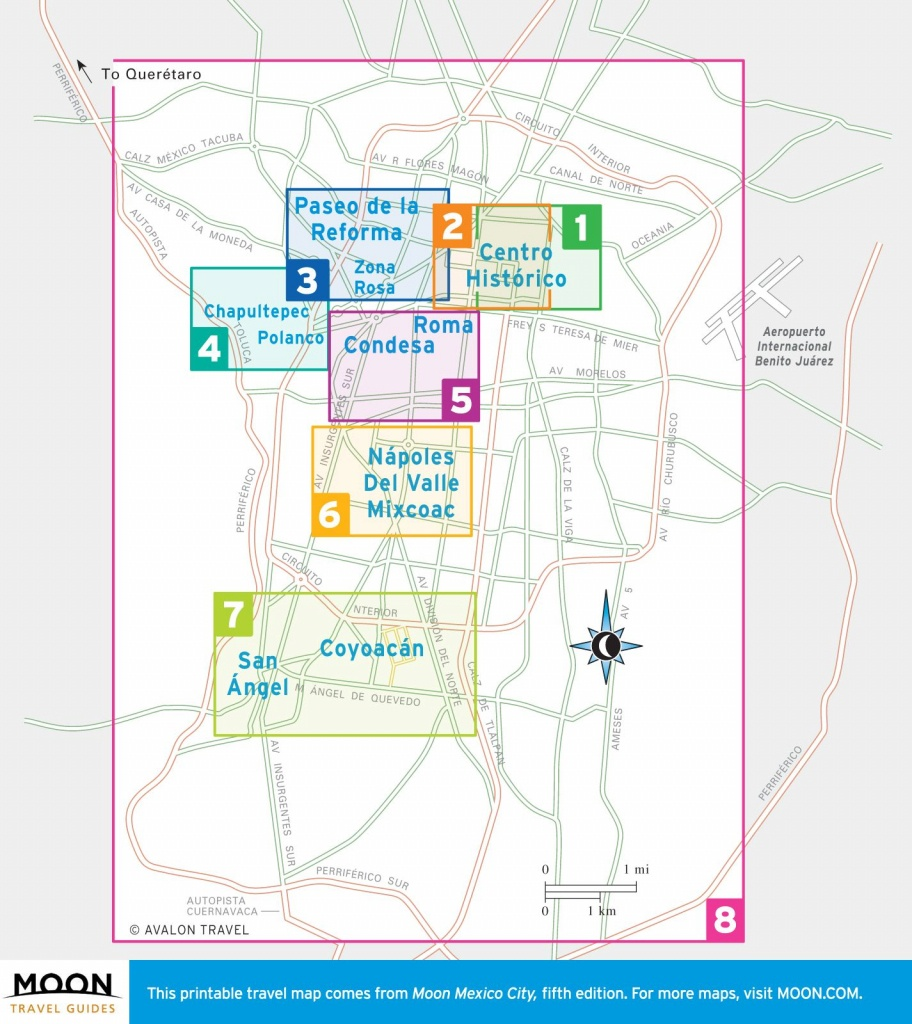 Printable Travel Maps Of Mexico City, Mexico | Mexico City | Mexico - Printable Map Of Mexico City