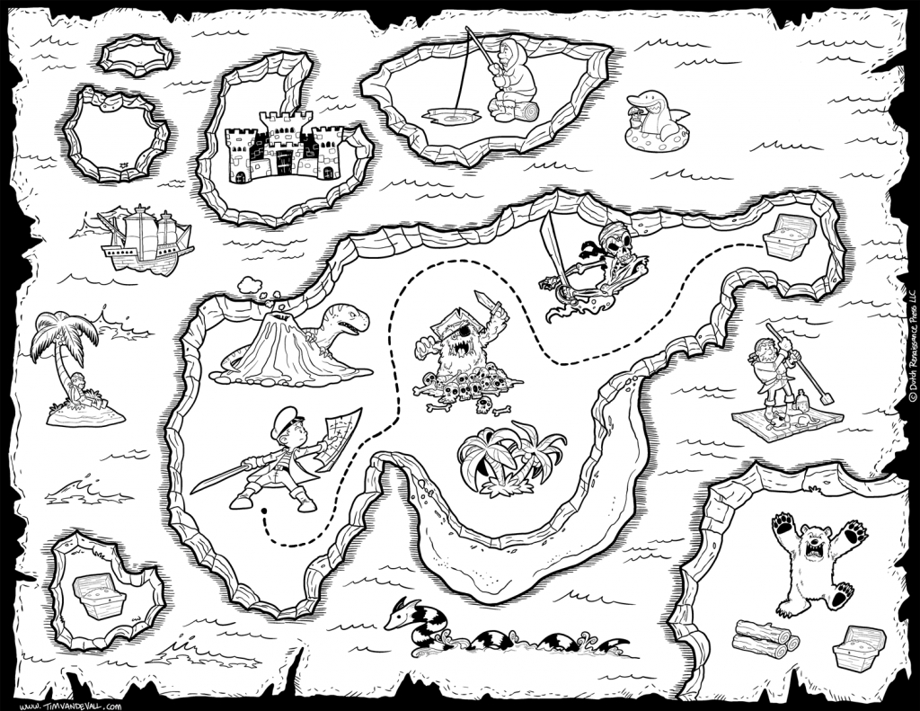Printable Treasure Map Coloring Pages Map Coloring Pages World Map - Printable Treasure Map Coloring Page