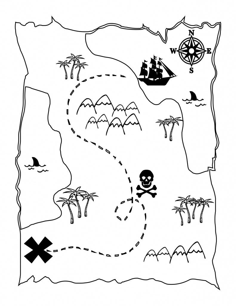 Printable Treasure Map Kids Activity   Printables   Pirate Maps - Printable Treasure Map Coloring Page