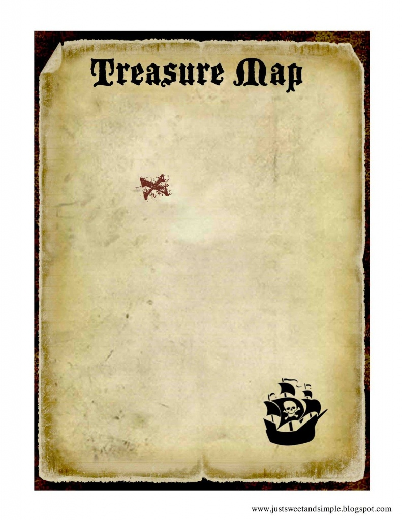 Printable Treasure Map   Pirate And Mermaid Party   Pirates, Pirate - Printable Scavenger Hunt Map