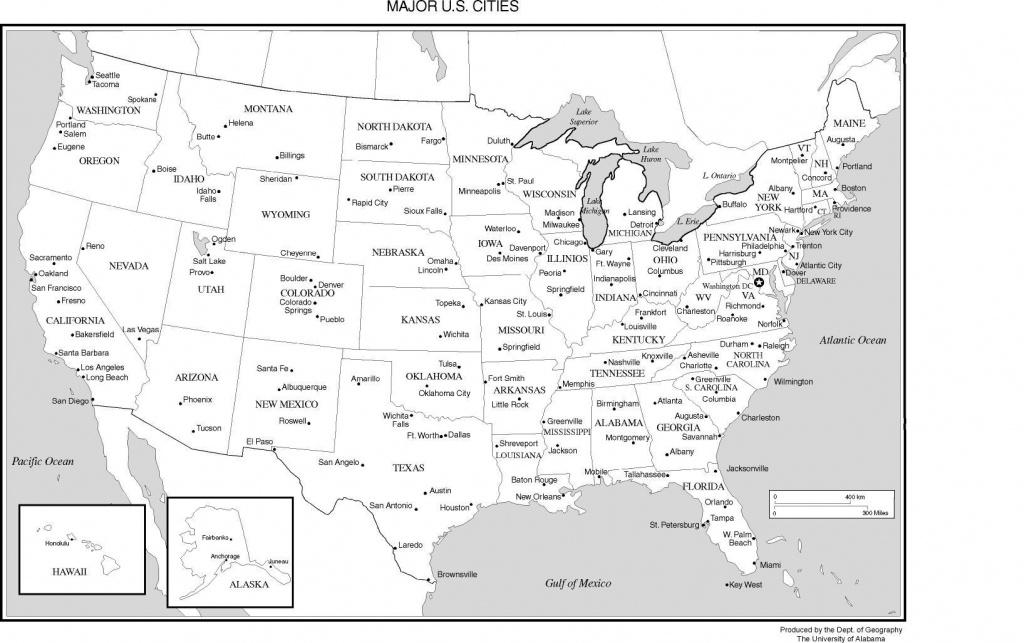 Printable Us Map With Major Cities And Travel Information | Download - Printable United States Map With Scale