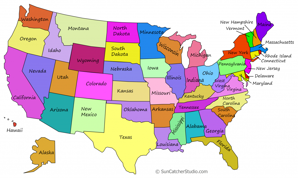 Printable Us Maps With States (Outlines Of America - United States) - Printable Usa Map With States