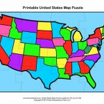 Printable Us State Map Puzzle   Capitalsource   United States Map Puzzle Printable
