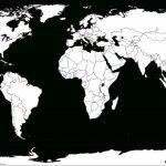 Printable White-Transparent Political Blank World Map C3 | Free - Blank Physical World Map Printable