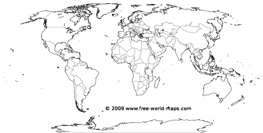 Printable White Transparent Political Blank World Map C3 In 2 - Empty World Map Printable