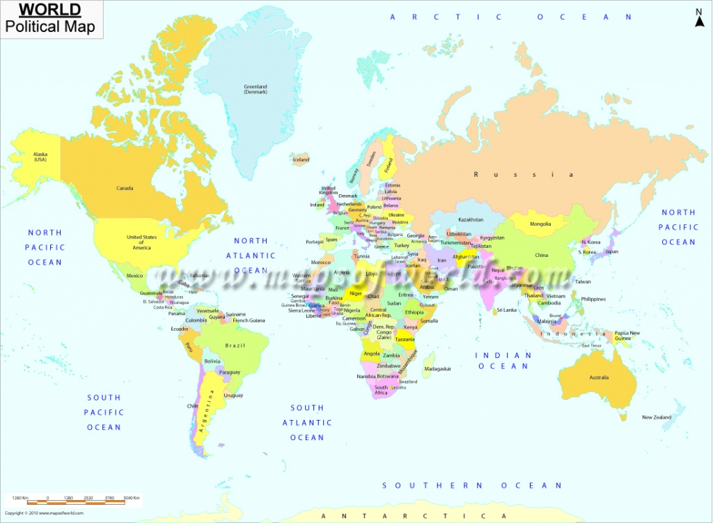 Printable World Map   B&w And Colored - World Map With Scale Printable