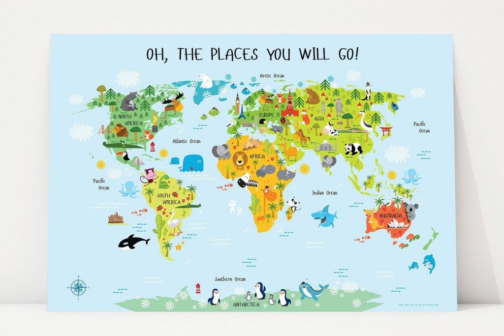 Printable World Map For Kids In 2019 | Leo's Playroom | Kids World - Printable World Map For Kids