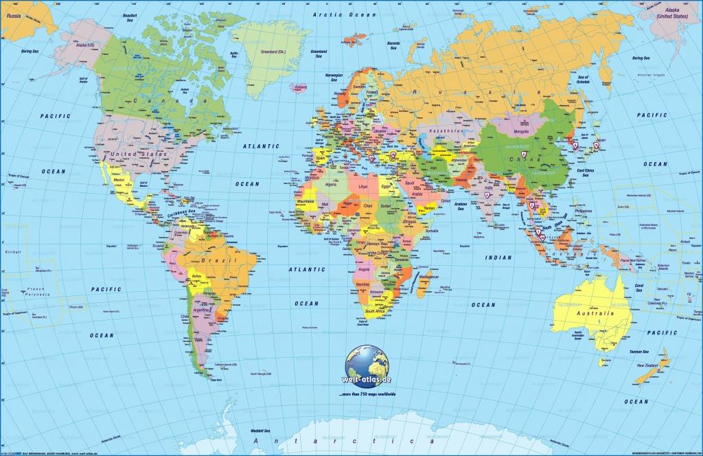 Printable World Map Large   Sitedesignco - Printable World Maps For Students