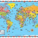 Printable World Map Poster Size Save With For Kids Countries   Printable World Map With Countries For Kids