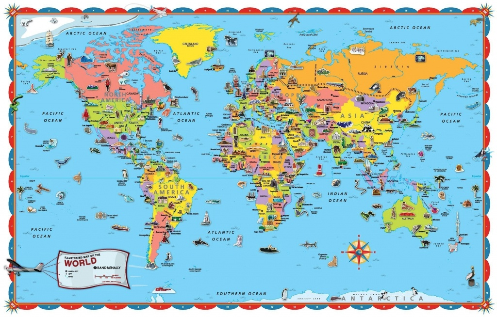 Printable World Map Poster Size Save With For Kids Countries - Printable World Map With Countries For Kids
