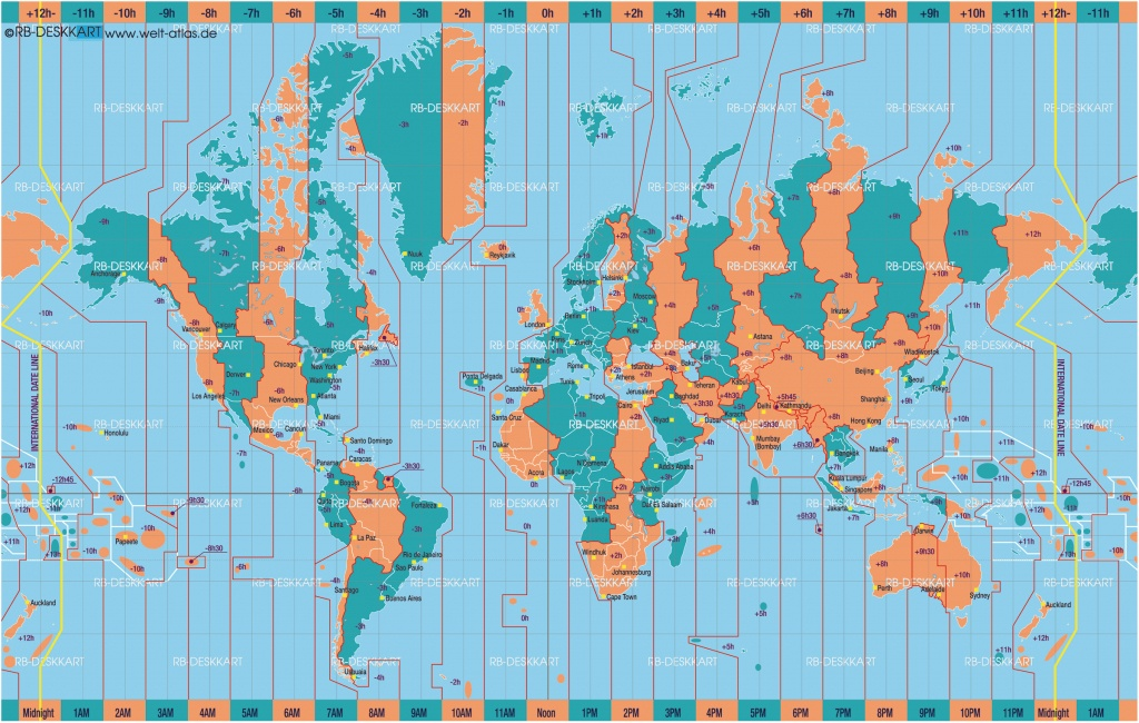 Printable World Time Zone Maps And Travel Information   Download - World Map Time Zones Printable Pdf