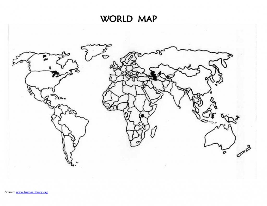 Printable+Blank+World+Map+Countries | Computer Desk | Blank World - World Map Test Printable