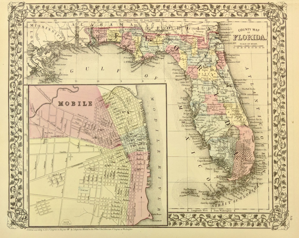 Prints Old & Rare - Florida - Antique Maps & Prints - Antique Florida Maps For Sale