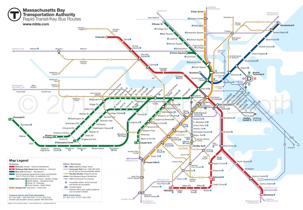 Project: Boston Mbta Map Redesign | Zertocon | Subway Map, Map, Boston - Mbta Subway Map Printable