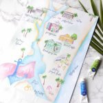 Project Highlight: Amelia Island Wedding Map » Bohemian Mint   Amelia Island Florida Map