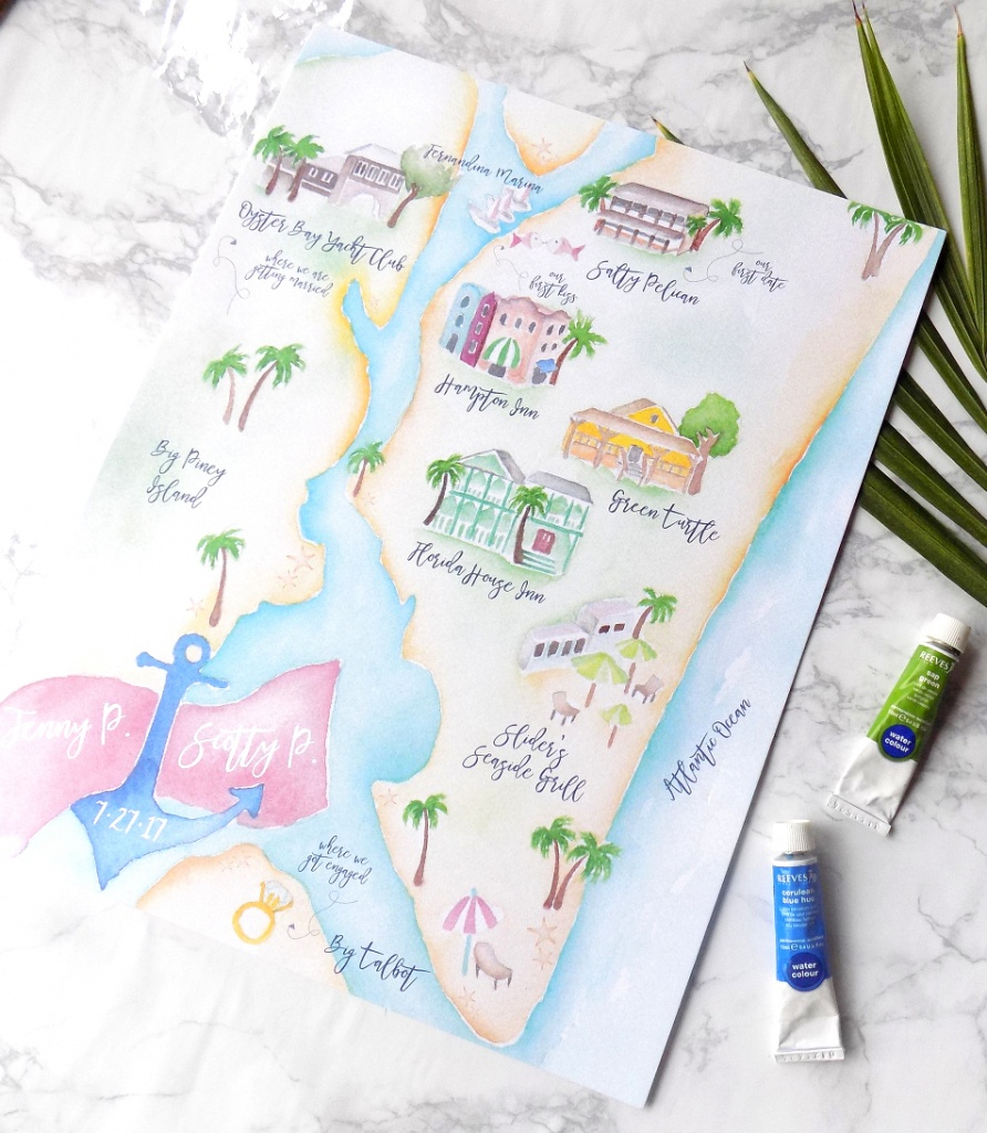 Project Highlight: Amelia Island Wedding Map » Bohemian Mint - Amelia Island Florida Map