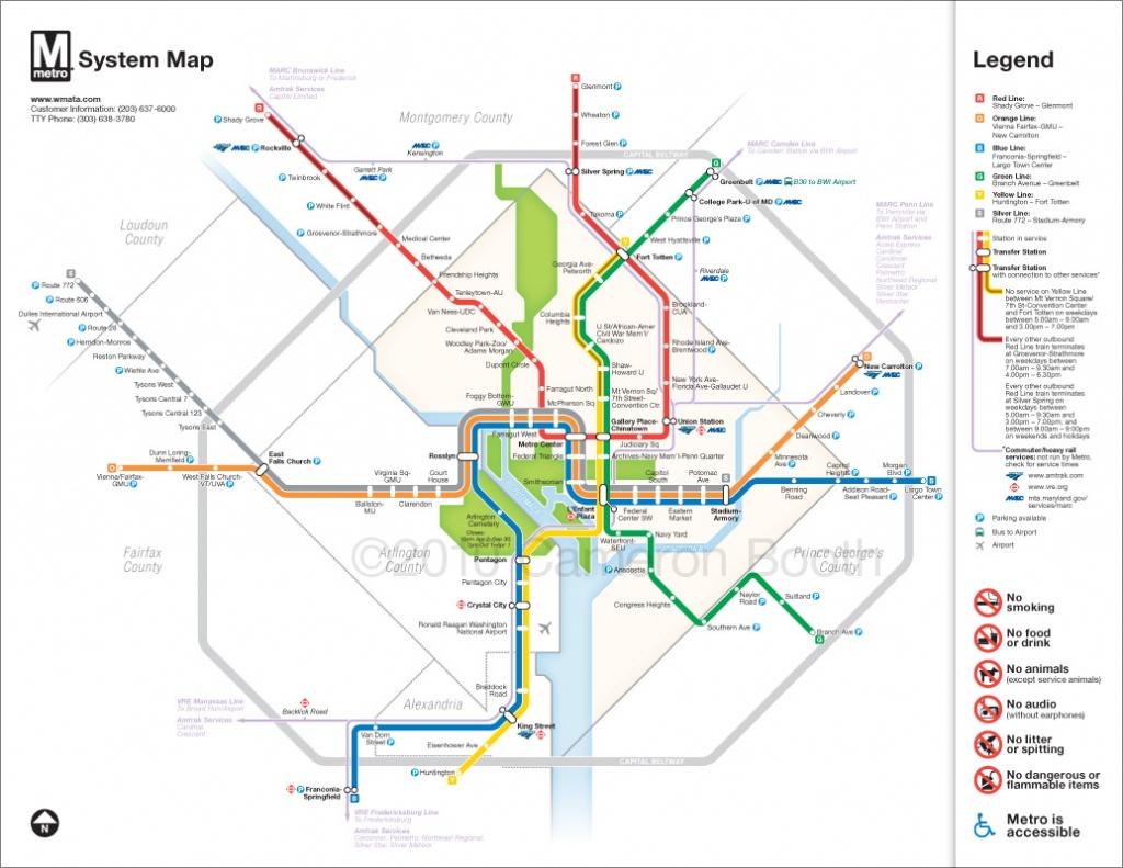 Project: Washington Dc Metro Diagram Redesign – Cameron Booth - Washington Dc Subway Map Printable