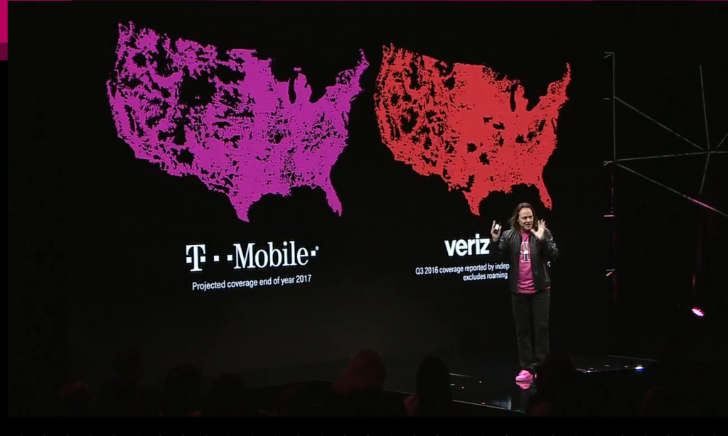 Projected End Of 2017 Coverage Map : Tmobile - Verizon Wireless Texas Coverage Map