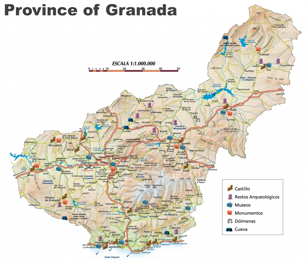 Province Of Granada Map - Printable Street Map Of Granada Spain