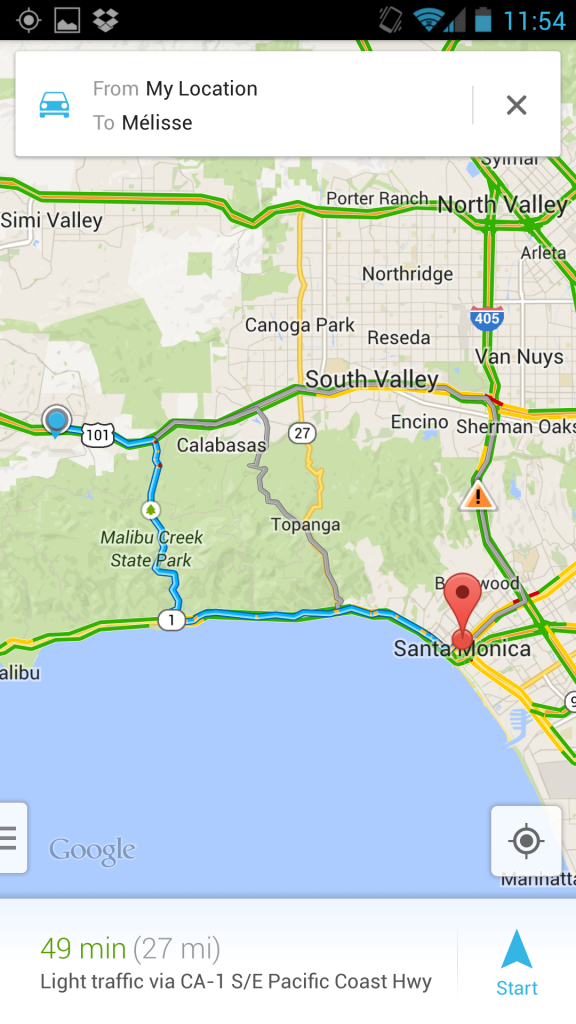 Psa: Google Maps For Android Version 7.0.2 Enters Wide Rollout - Google Maps Calabasas California