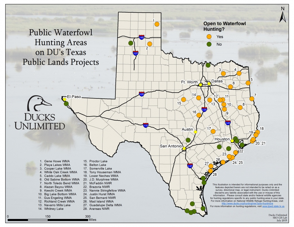 Public Hunting On Du Projects In Texas - Texas Public Land Map