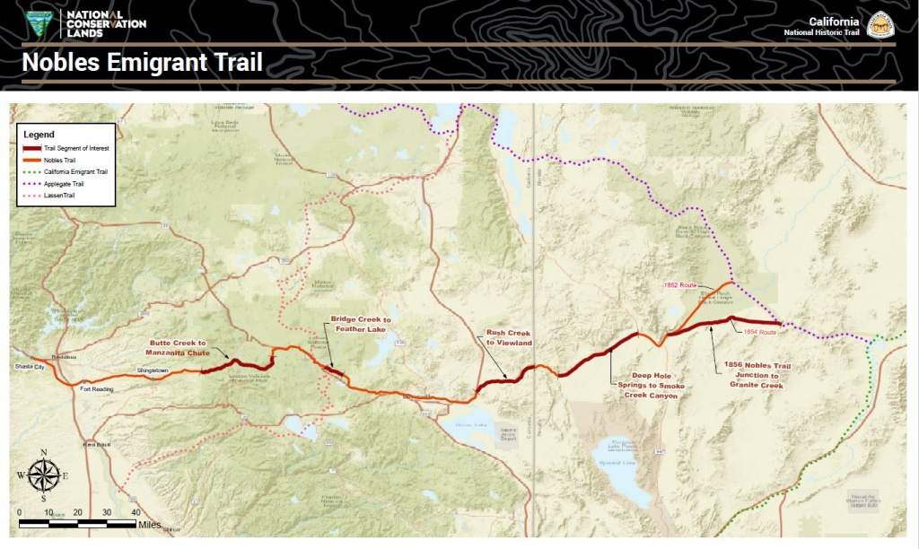 Public Room: California: Nobles Emigrant Trail Map | Bureau Of Land - California Trail Map