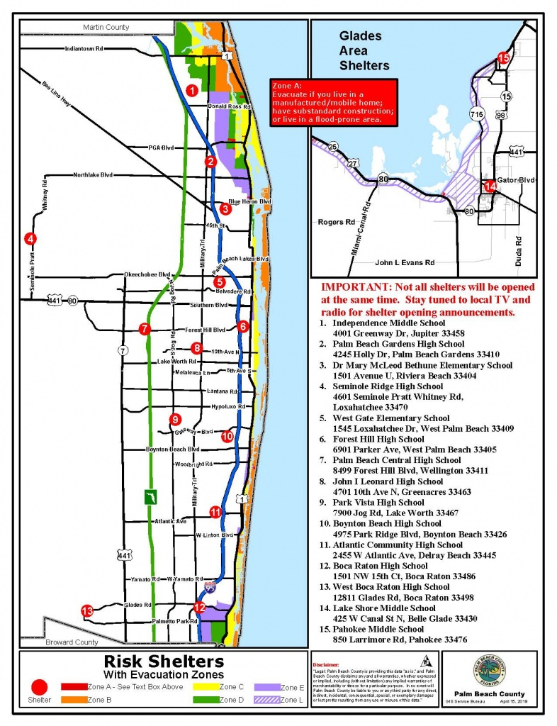 Public Safety - Emergency Management Ready Pbc - Zip Code Map Of Palm Beach County Florida