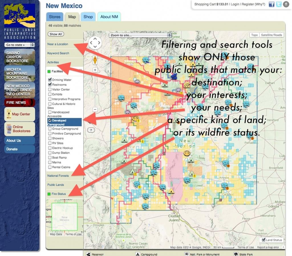 Publiclands   Colorado - California Public Hunting Land Map