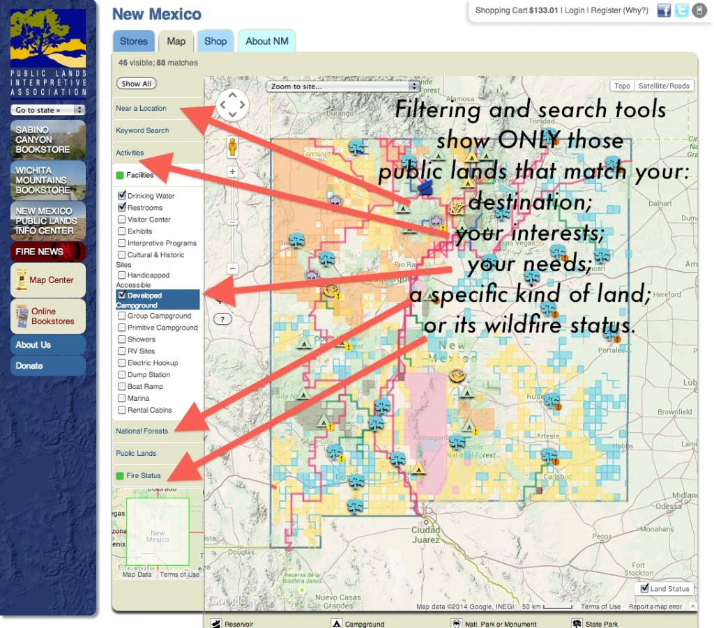 Publiclands   Nevada - Blm Land Map Southern California