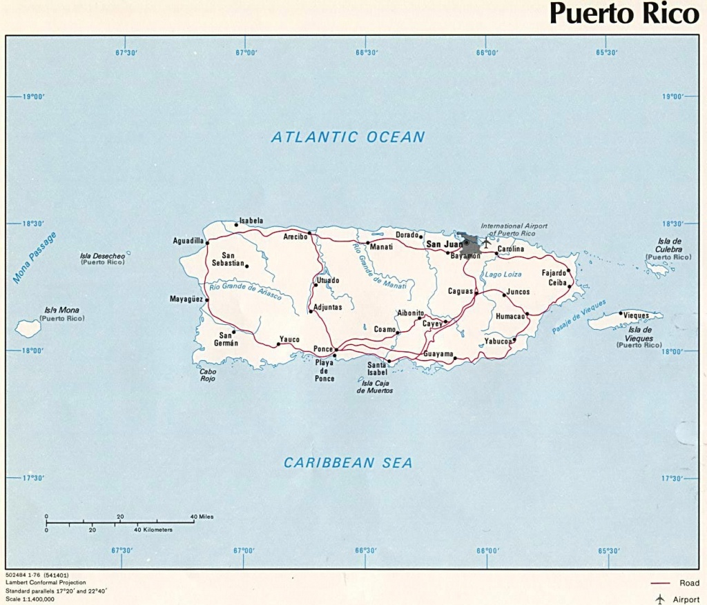 Puerto Rico Maps | Printable Maps Of Puerto Rico For Download - Printable Map Of Puerto Rico