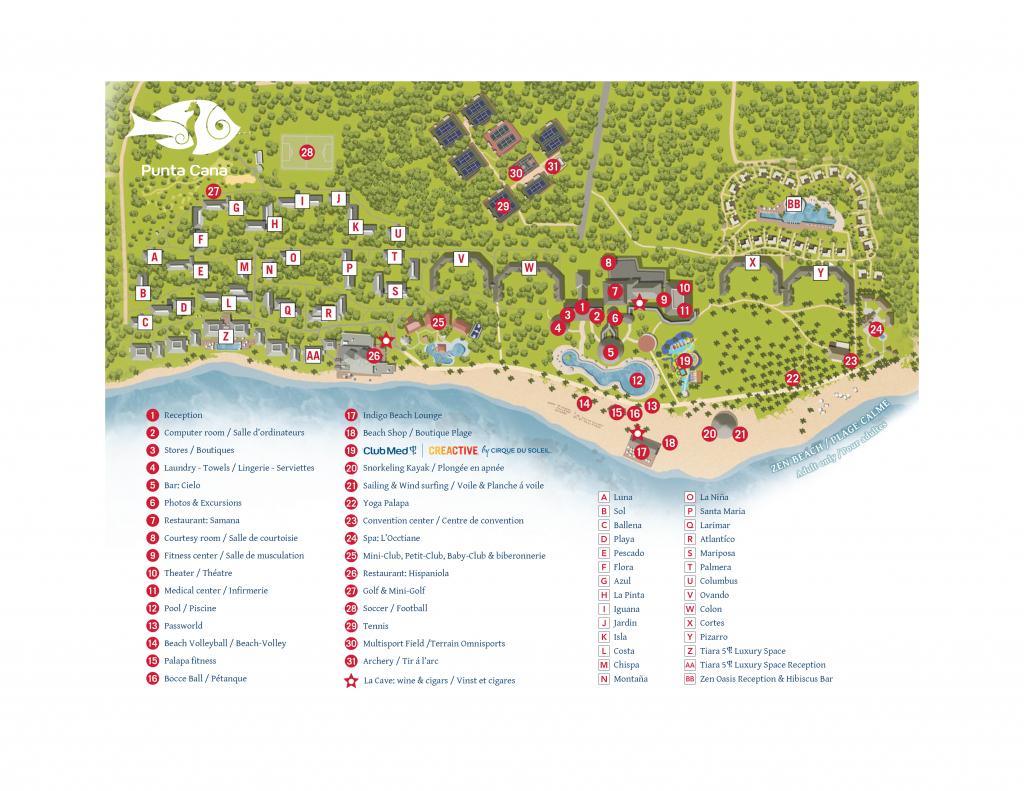 Punta Cana, Voyage Tout Inclus En Famille En République Dominicaine - Club Med Florida Map