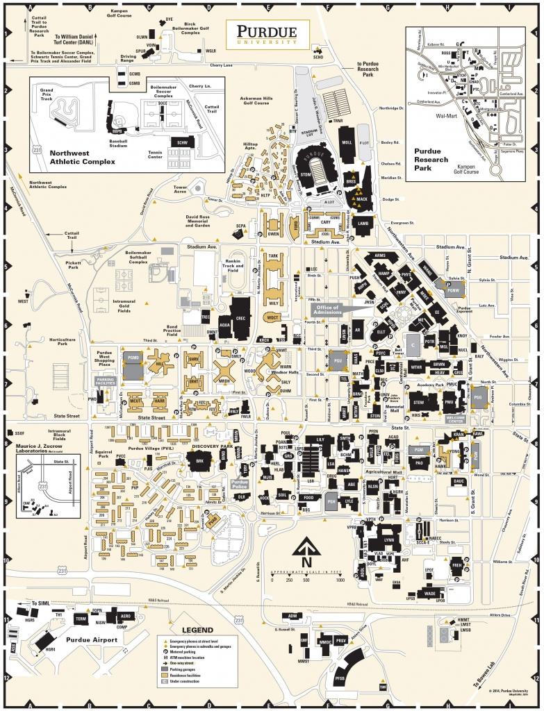 Purdue University Campus Map, Circa 2014, Pg 2   Purdue   University - Duke University Campus Map Printable