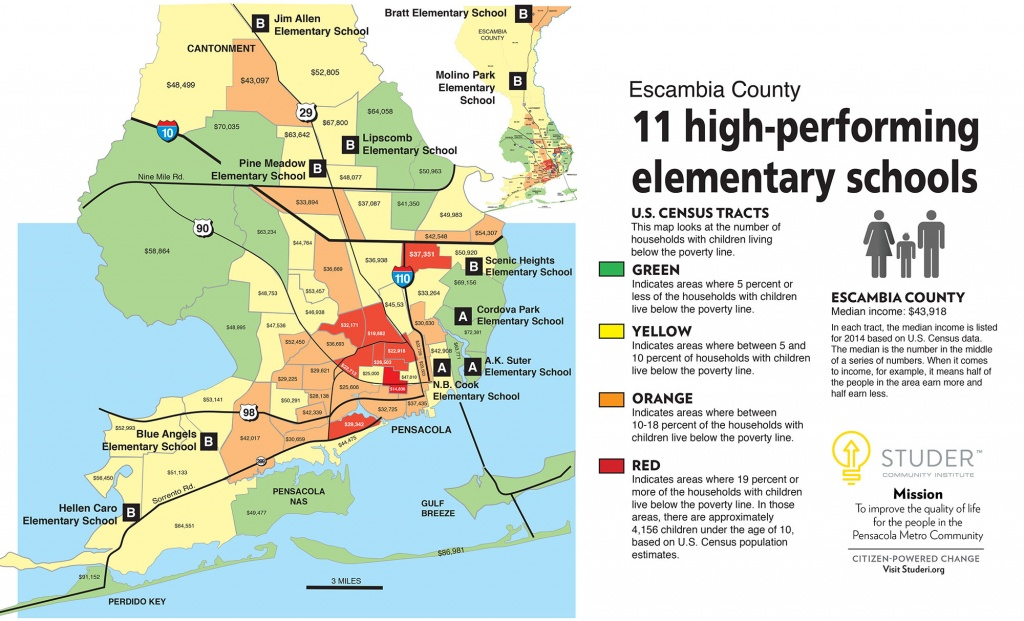 Putting Poverty On Escambia's Map   Studer Community Institute - Map Of Escambia County Florida