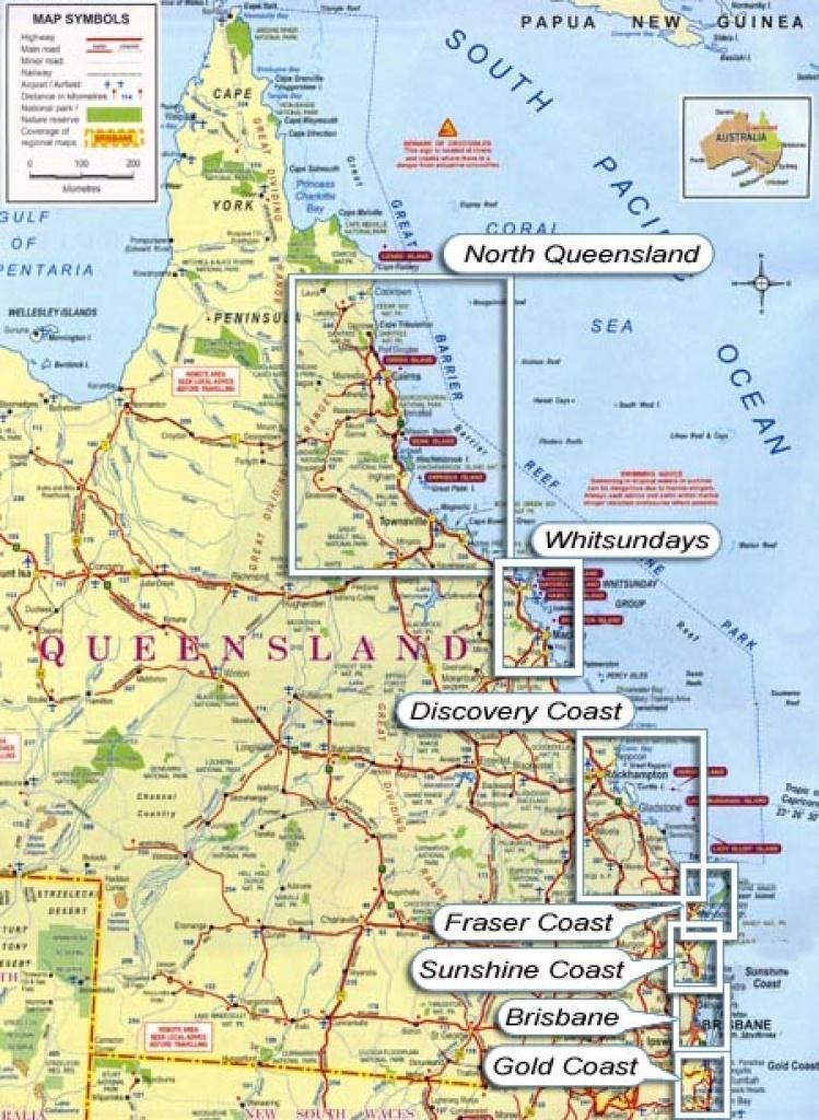Queensland Map & Pdf Download - Printable Map Of Queensland
