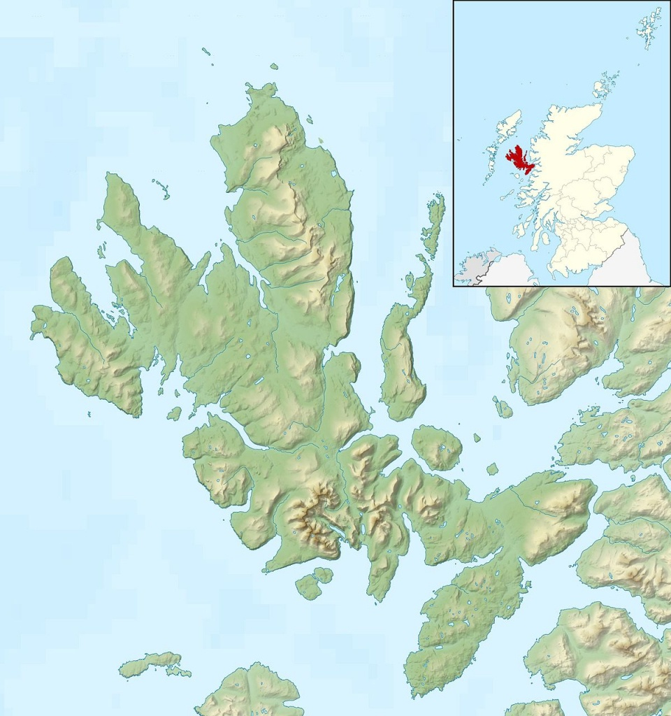 Raasay - Wikipedia - Printable Map Skye