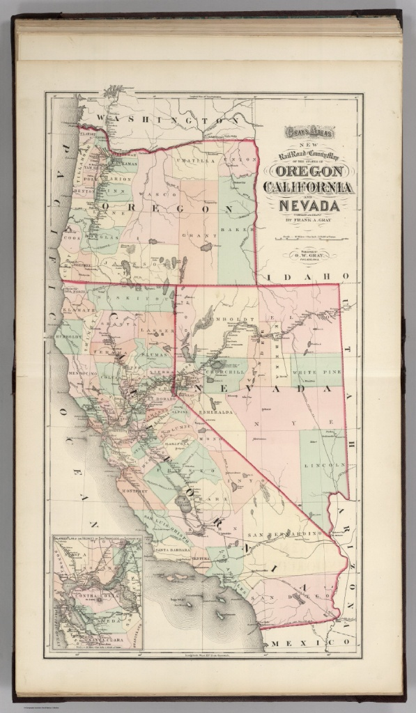 Railroad Map Of Oregon, California, And Nevada. - David Rumsey - Oregon California Map