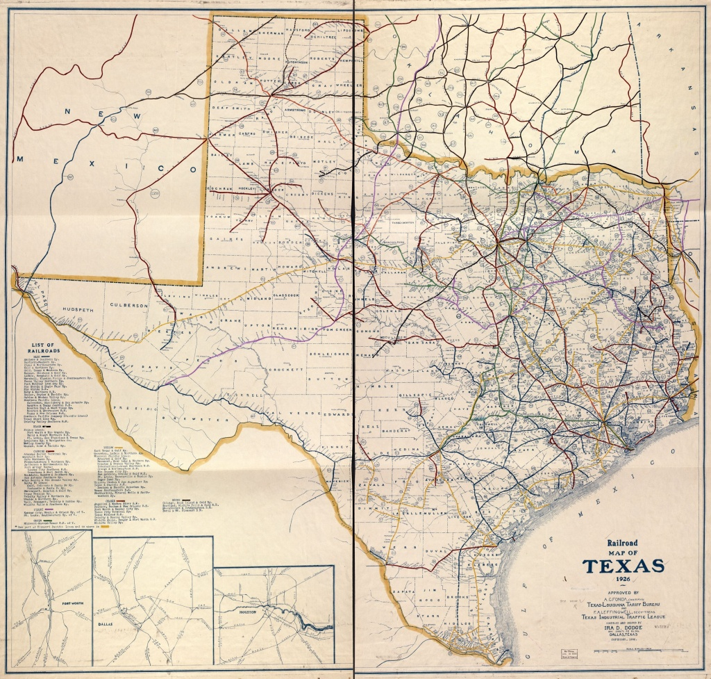 Railroad Map Of Texas, 1926   Library Of Congress - Junction Texas Map