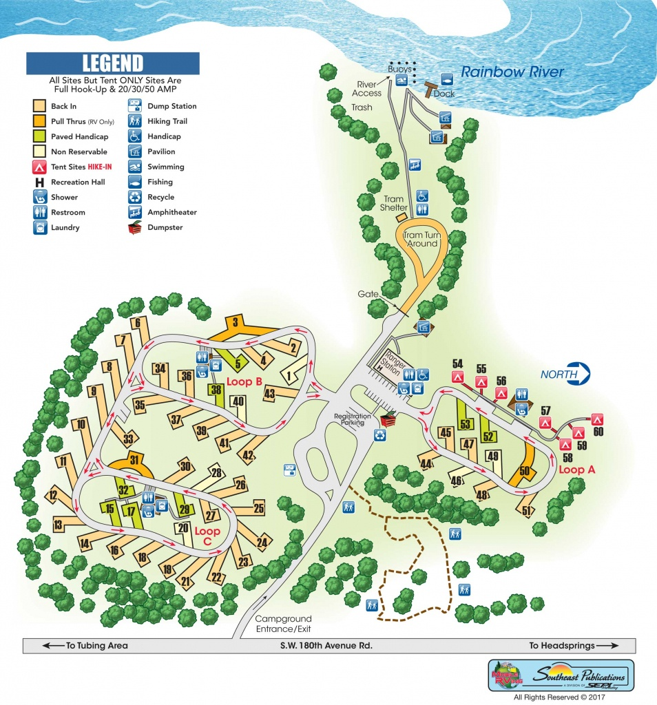 Rainbow Springs State Park - Know Your Campground - Florida State Parks Camping Map