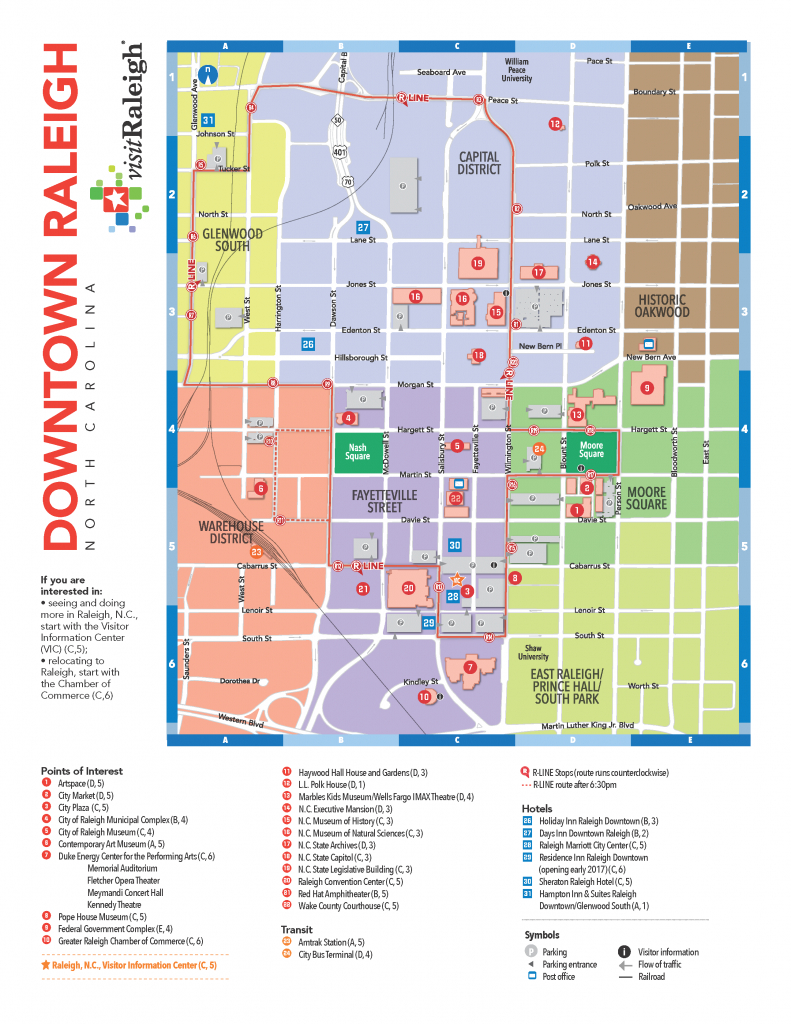Raleigh: Local Information - Seaall 2017 - Research Guides At - Printable Map Of Downtown Raleigh Nc
