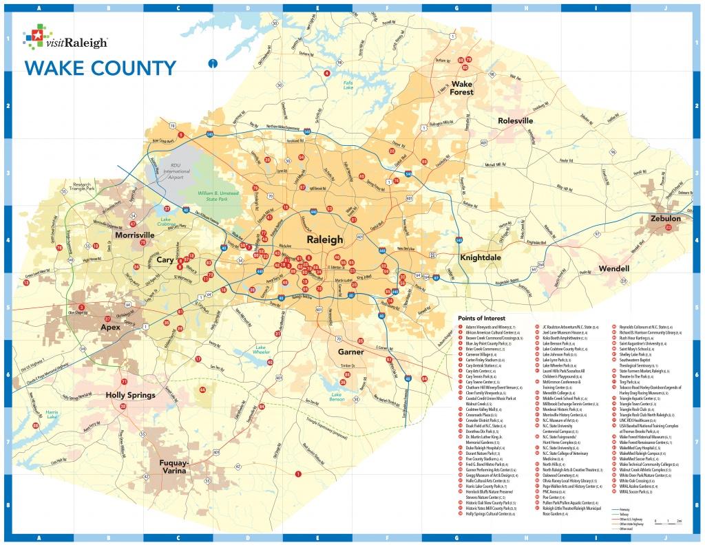 Raleigh, N.c., Maps | Downtown Raleigh Map - Printable Map Of Raleigh Nc