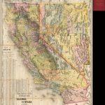 Rand, Mcnally & Co.'s Standard Map Of California And Nevada 1889 - Road Map Of California And Nevada