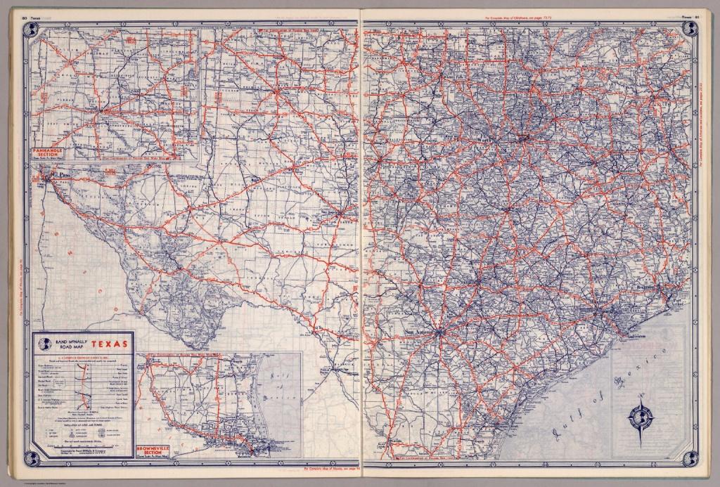 Rand Mcnally Road Map: Texas - David Rumsey Historical Map Collection - Rand Mcnally Texas Road Map