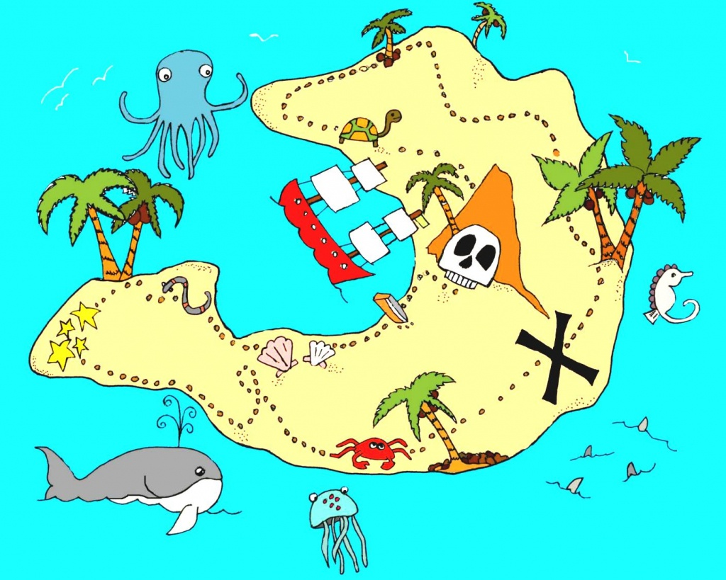 Real Treasure Maps Found Clipart Animals Cliparts With Hot - Clipartpost - Printable Treasure Maps For Kids