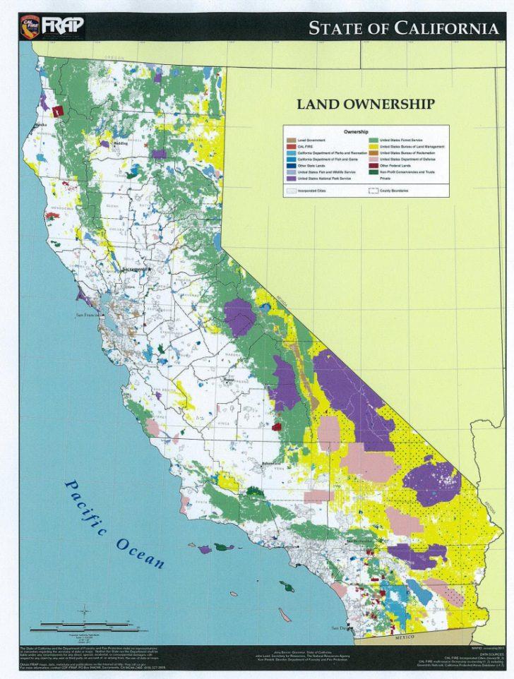 California Land Ownership Map