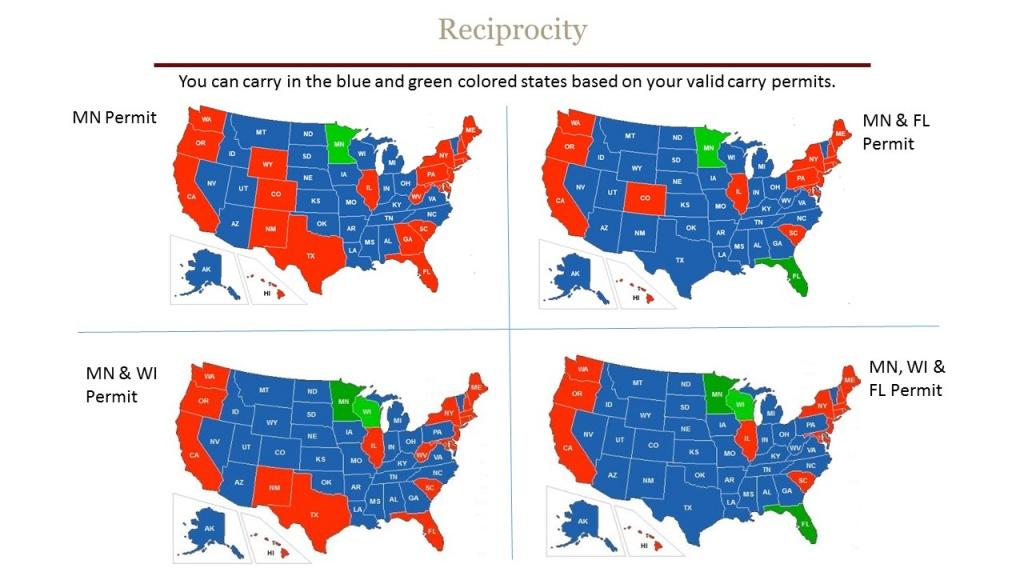 Reciprocity - Chandler's Conceal & Carry - Florida Ccw Reciprocity Map 2017
