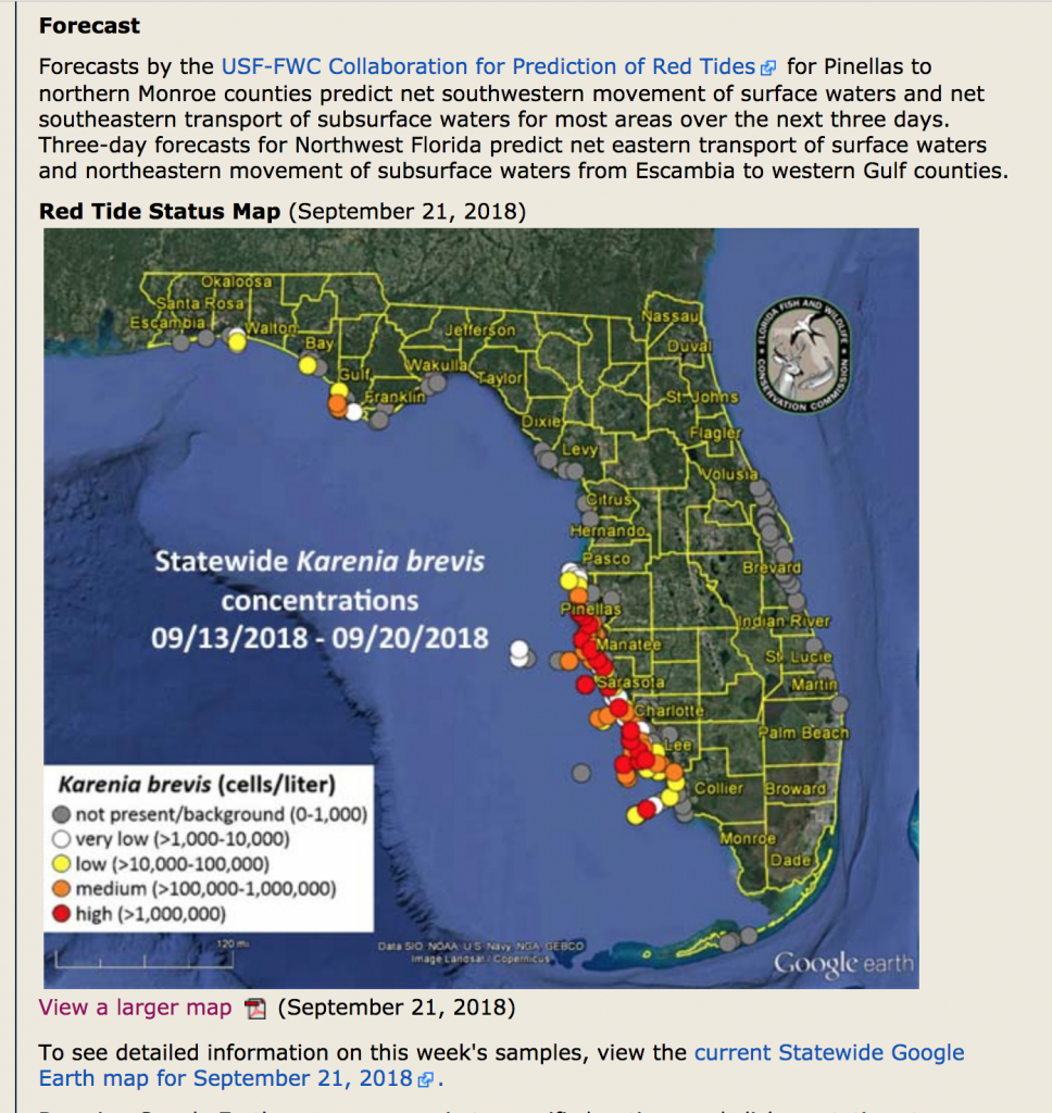 Red Tide Reaches Pinellas. - Page 4 - The Hull Truth - Boating And - Current Red Tide Map Florida
